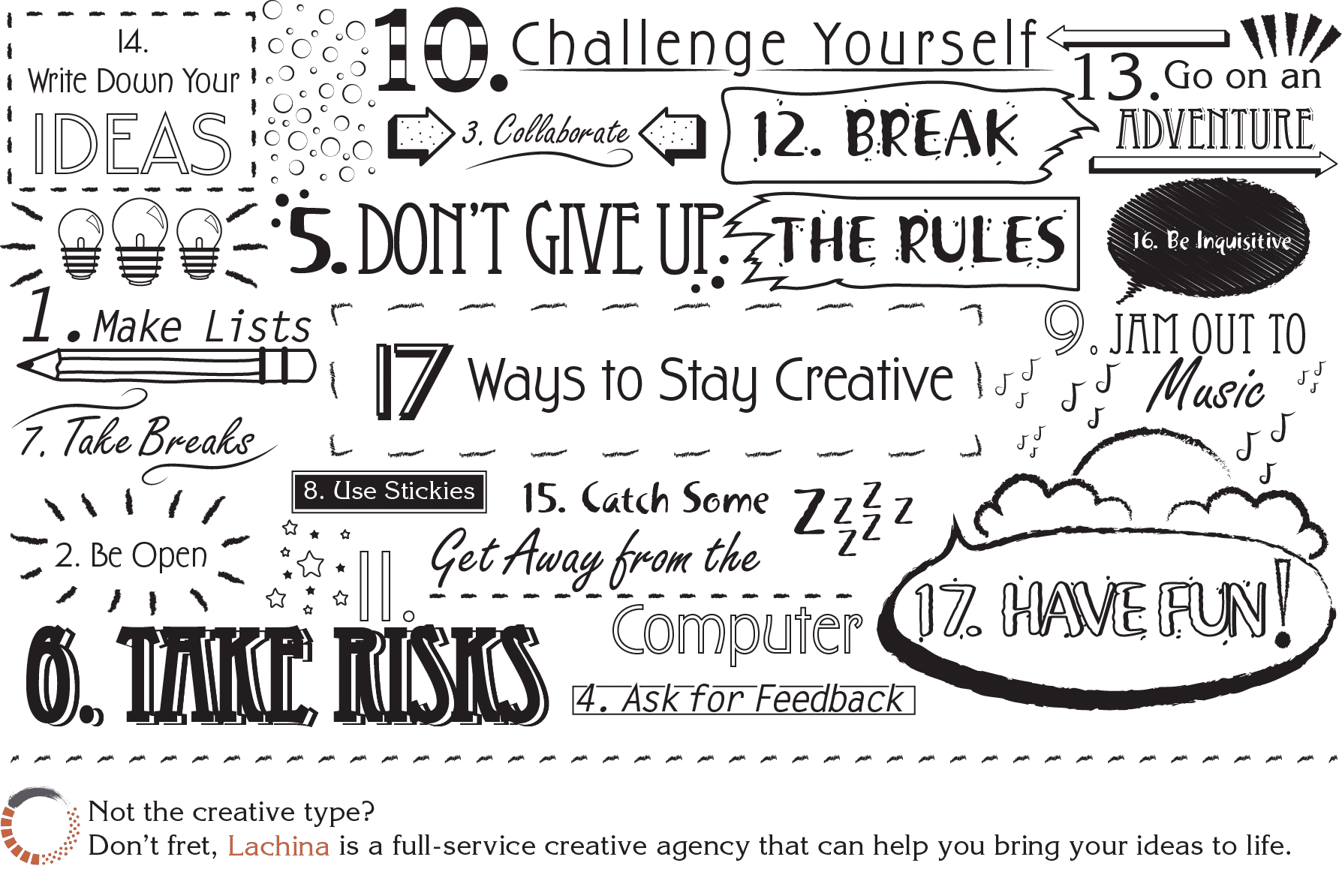 17 Ways to Stay Creative Infographic