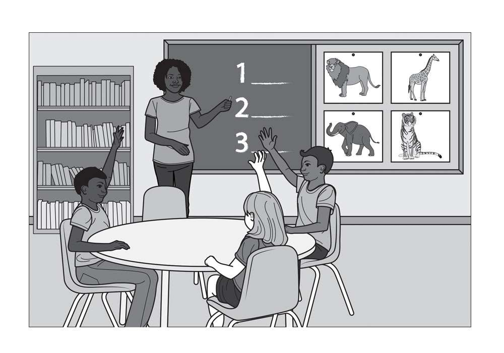 Editorial Illustration of Children Learning