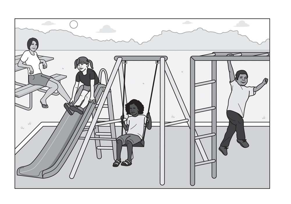 Children Playing Editorial Illustration