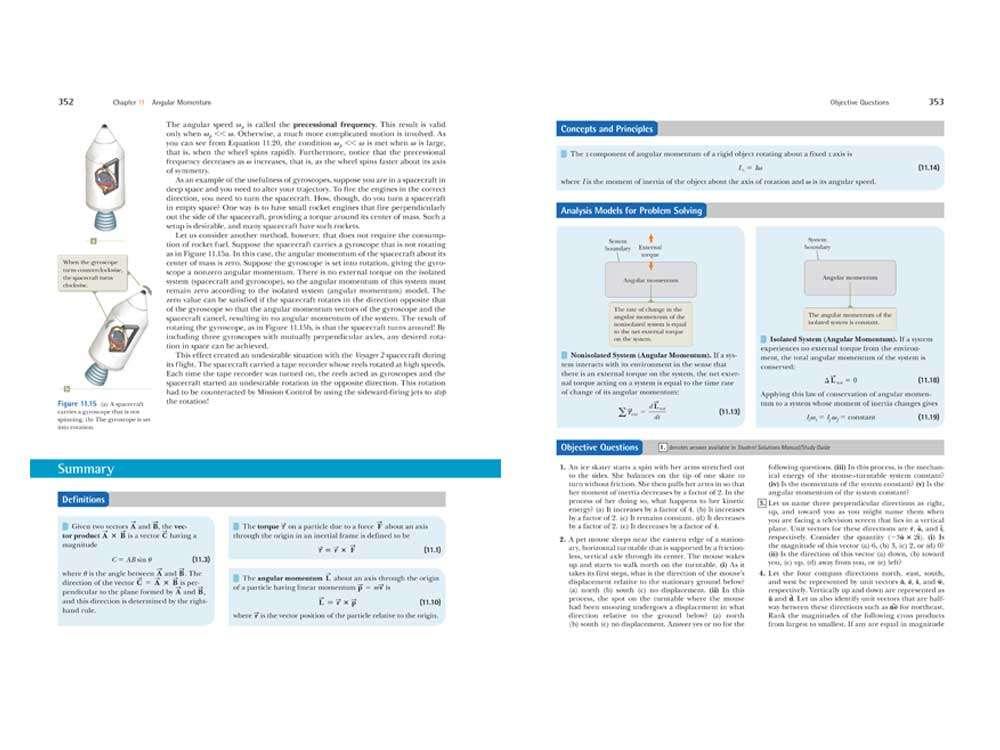 Angular Momentum Page Layout Design