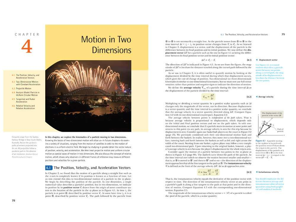 Motion in Two Dimensions Page Layout Design