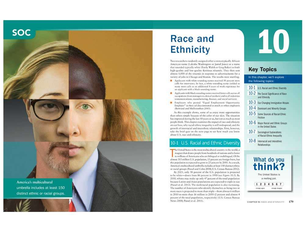 Race and Ethnicity Page Layout Design