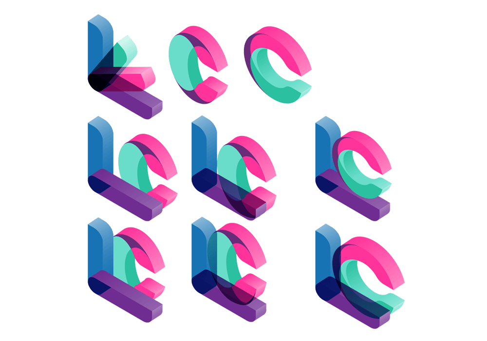 3D Colorful Logo Design
