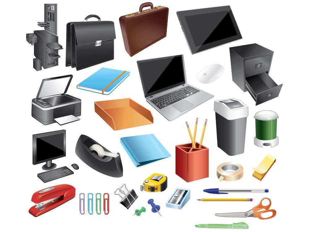 Desktop Objects Illustration