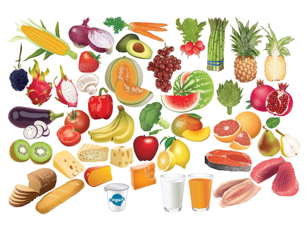 Fruits and Vegetables Illustration