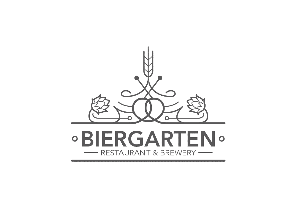 Biergarten Brewery Logo Design