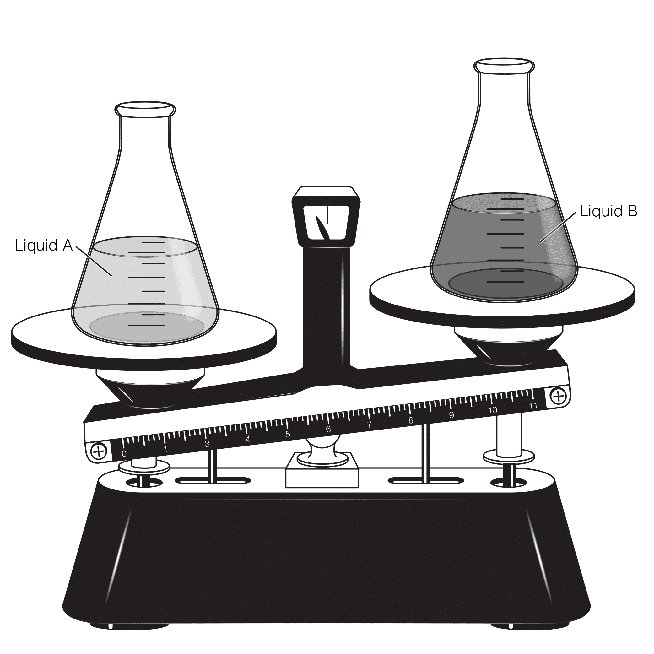 Chemistry Flask High School Editorial Illustration