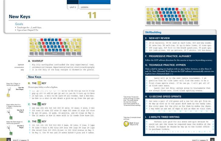 Keyboard Lessons Page Layout Design
